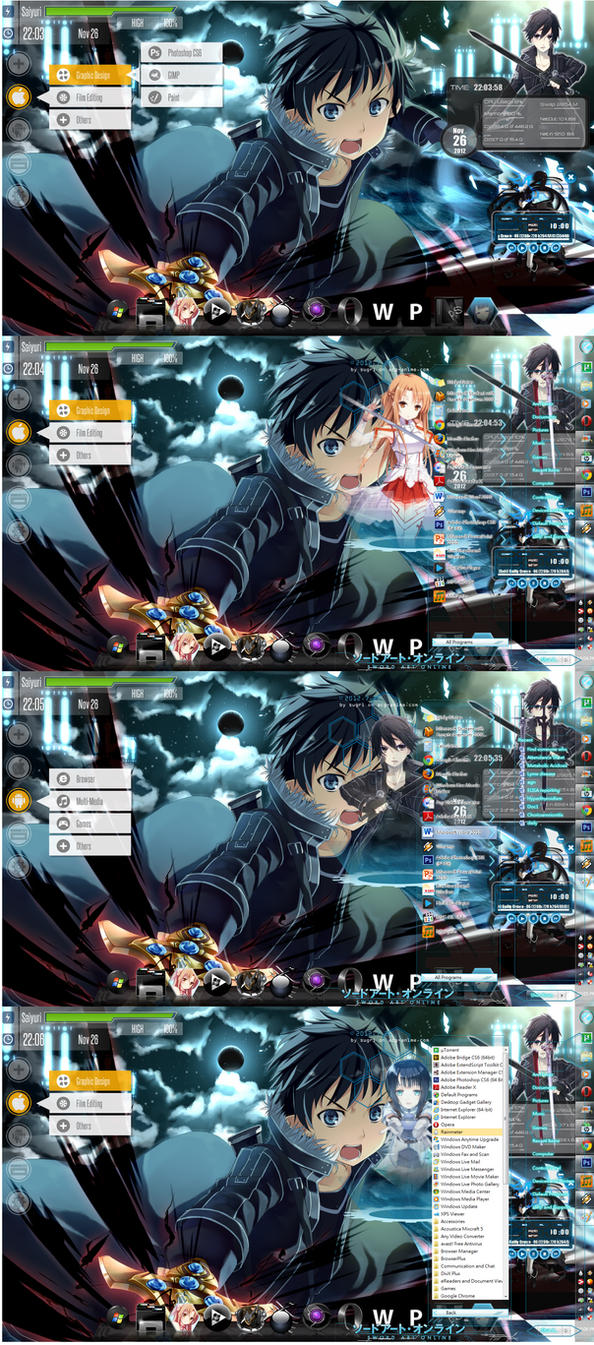 Sword Art Online Theme - Windows 7 by yunisuchan