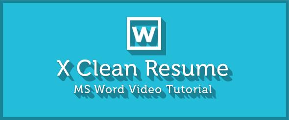 X Clean Resume