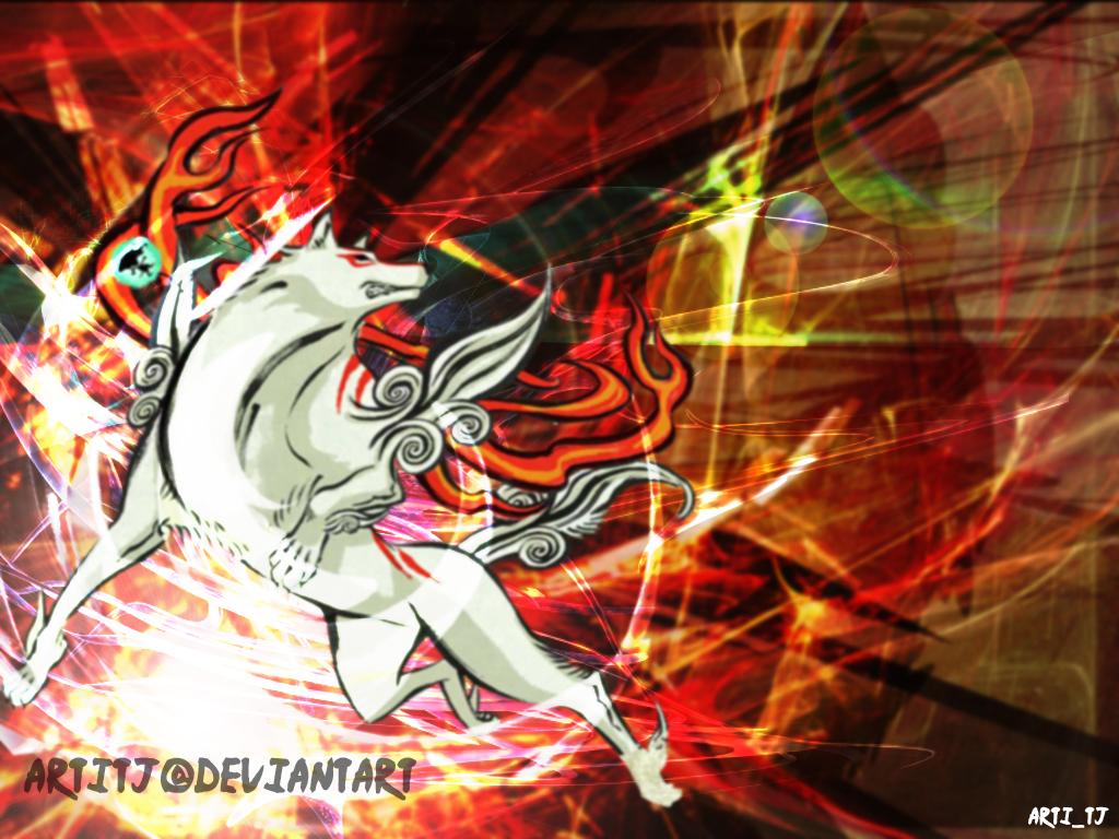 Okami Wallpaper.. by Artitj on DeviantArt