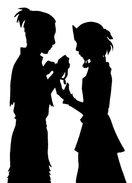 Ship Silhouette - Sokka+Suki by kaiyrah