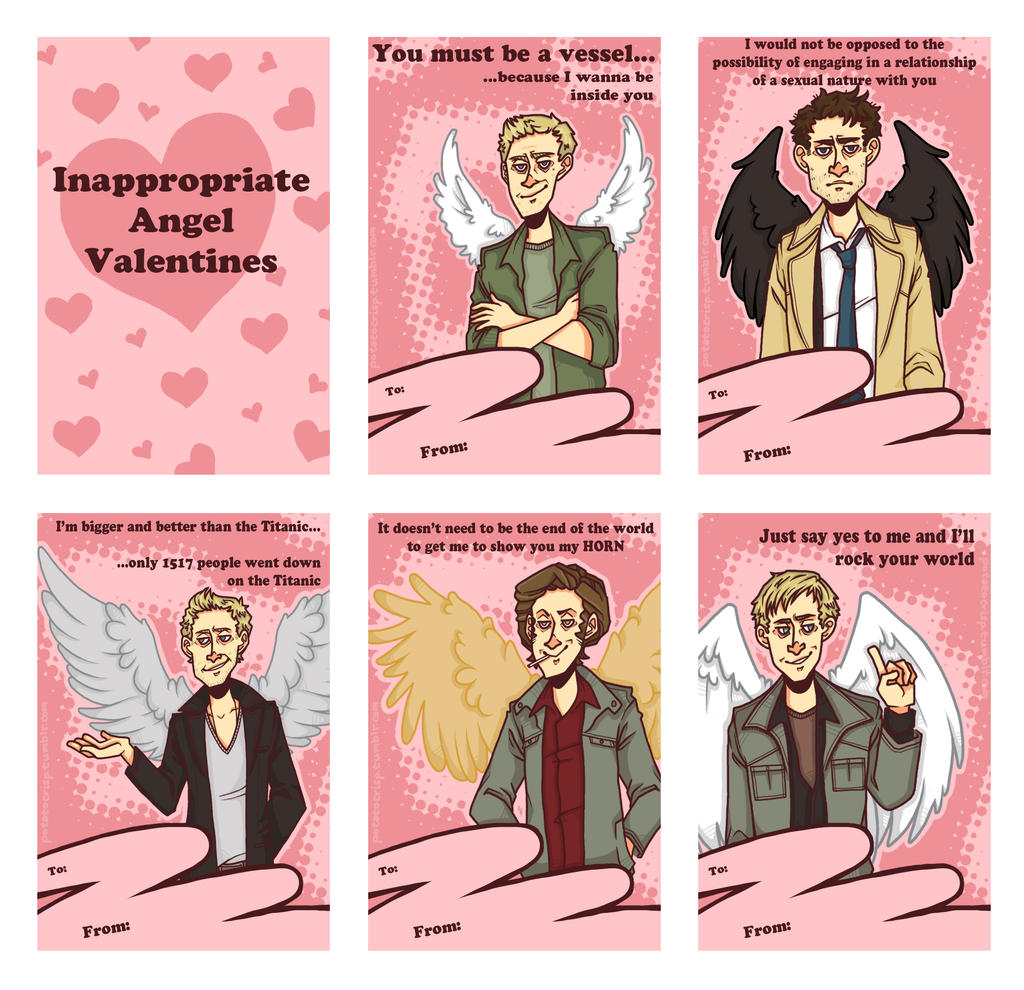 Inappropriate Angel Valentines By PotatoCrisp Inappropriate Angel Valentines  By PotatoCrisp