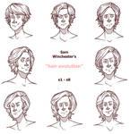 the Evolution of Sam Winchester's Hair