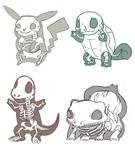 Pokemon Skeletons