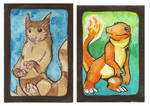 Charmander and Furret ACEOs