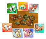 1 inch Pokemon Buttons