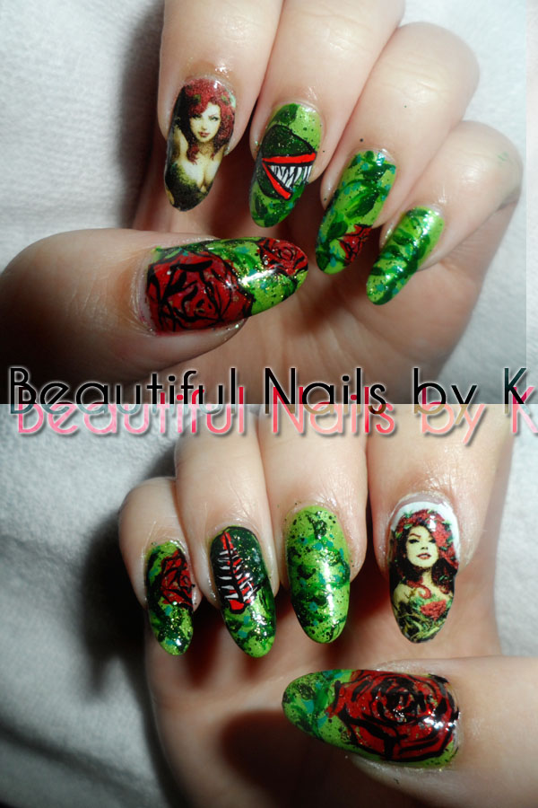 Poison Ivy Nail Art 1 by shineegurl18 on DeviantArt