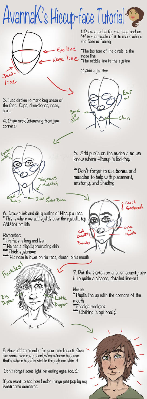 Avanna's Hiccup-drawin' tutorial by AvannaK