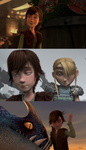 Fem!Hiccup: Silly Faces