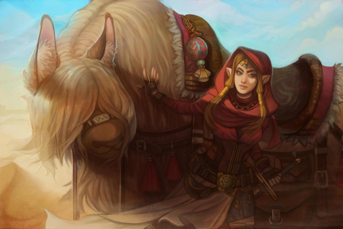 .: Desert Raider - Zelda by Sapphirelullaby