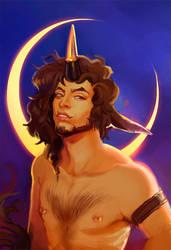 commission - rough portrait lyudmylah