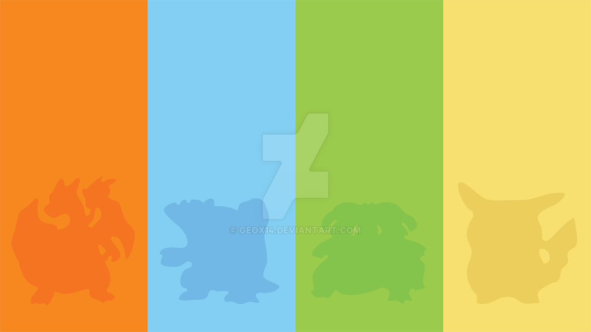 Pokemon Red Blue Green Yellow By Geox14 On Deviantart