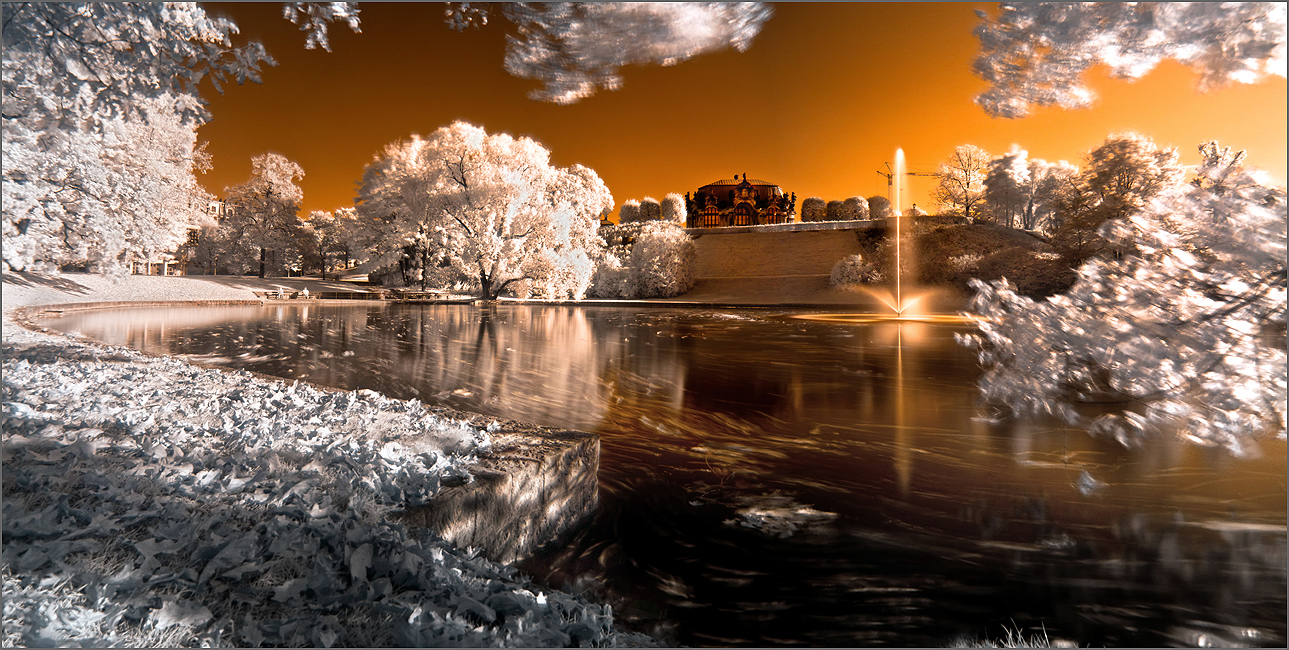 Dresden Zwinger in infrared by Torsten-Hufsky
