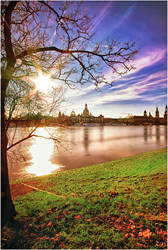 Flood waters in Dresden