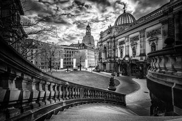 Dresden in Black and White by Torsten-Hufsky