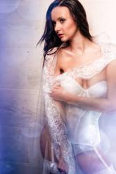 Bridal Boudoir with veil
