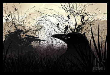 A Flock of Crows by lhs