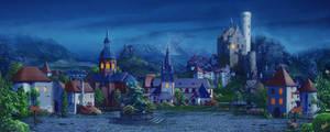 Medieval village_night