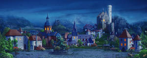Medieval village_night
