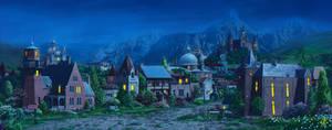 Medieval village2_night