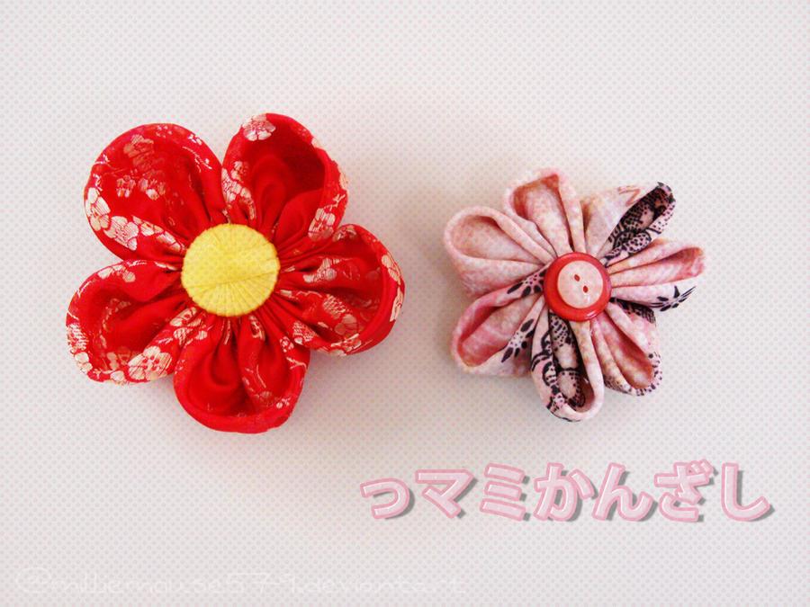 Simple Tsumami Kanzashi By Milliemouse579 On Deviantart