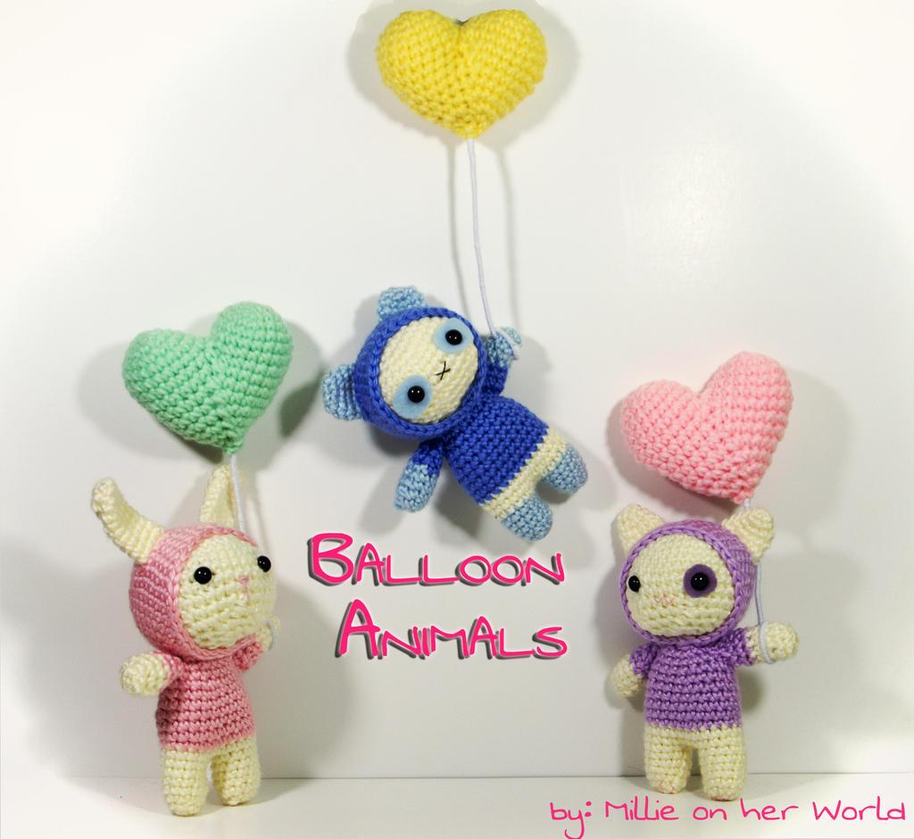 Hooded Balloon Animals - Amigurumi Pattern by ...