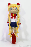 Champion of Love and Justice: Sailor Moon Amigurum by milliemouse579
