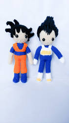 Goku and Vegeta by milliemouse579