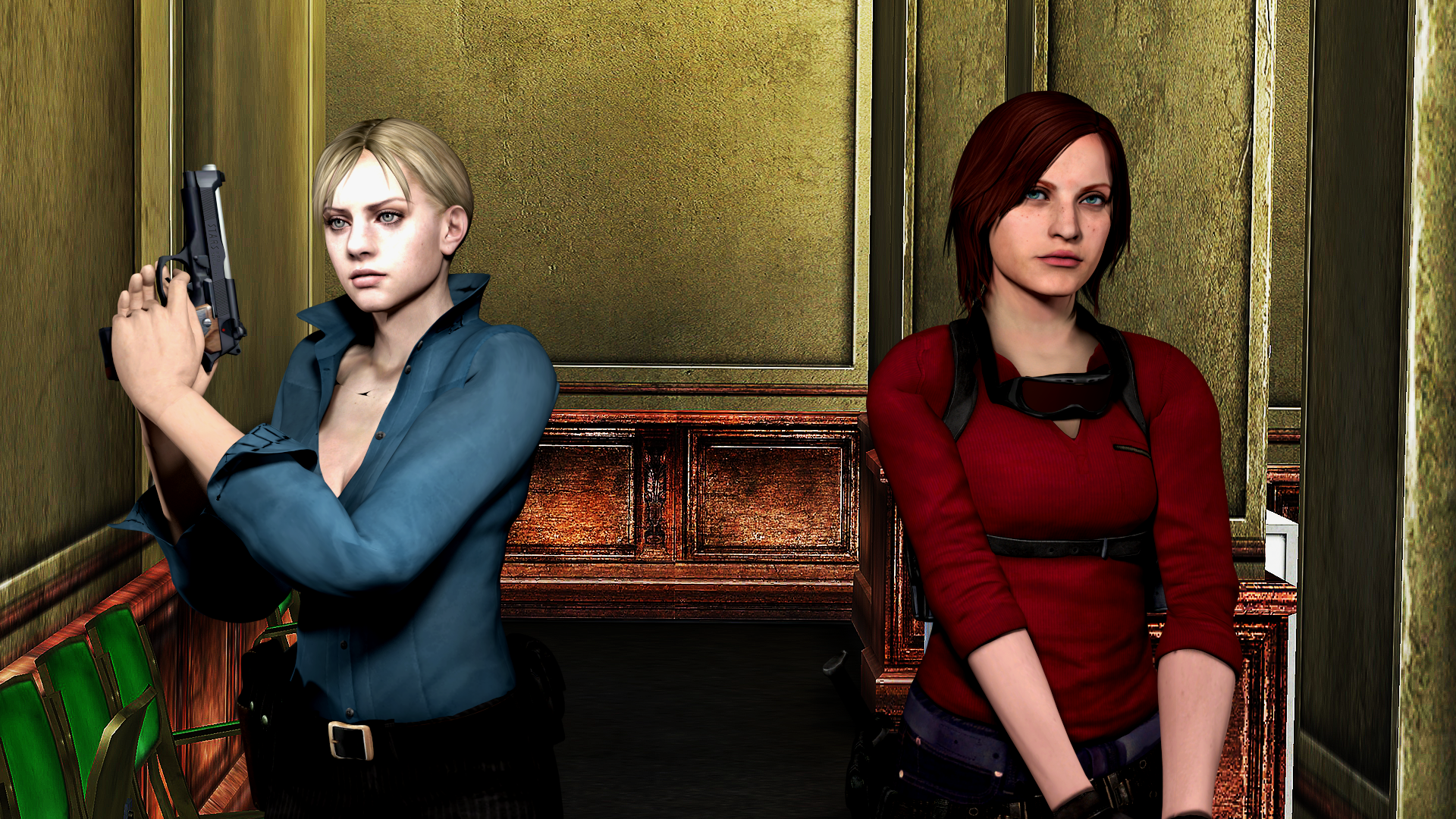 Jill Valentine And Claire Redfield By Mister-Valentine On