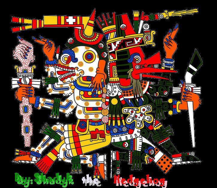 Glifo Mictlantecutli y Quetzalcoatl