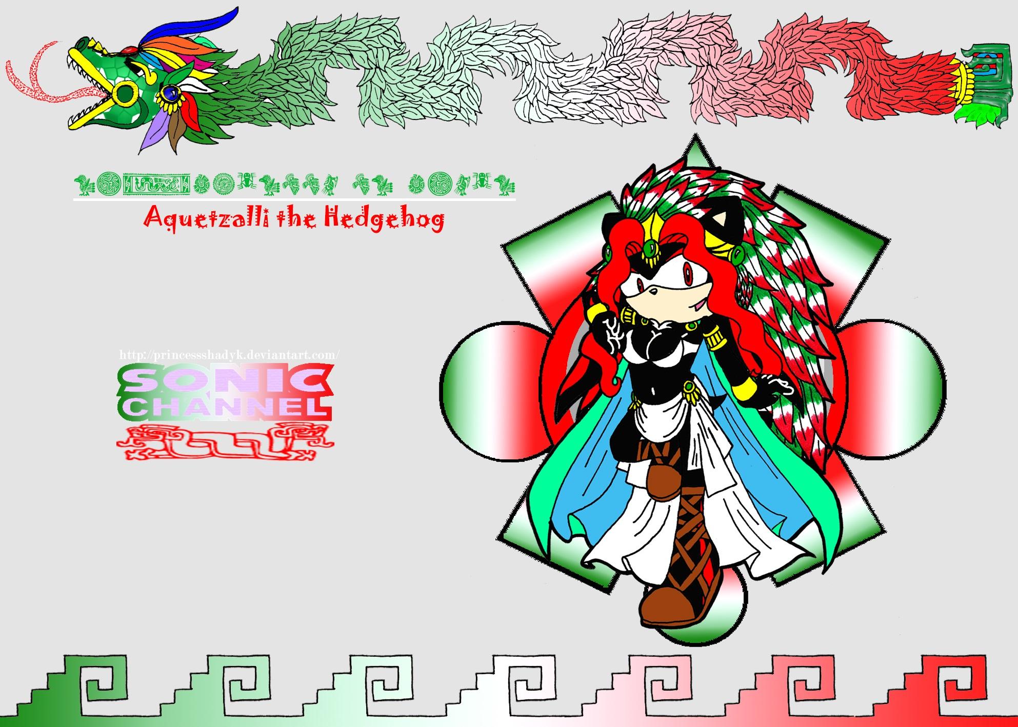 Aquetzalli the Hedgehog (Shadyk) xXSonic ChannelXx by PrincessShadyk
