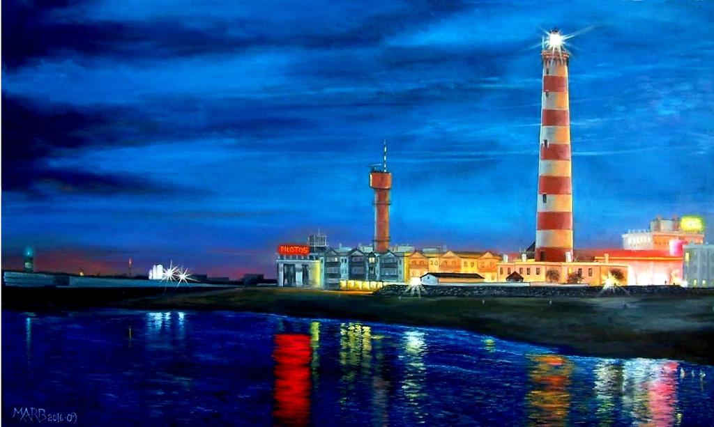 Lighthouse On The Beach -PORTUGAL-ILHAVO-AVEIRO by PINCELdeDALI