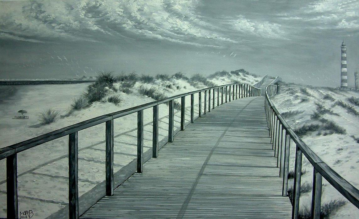 Footbridge Beach of BARRA -AVEIRO -PORTUGAL by PINCELdeDALI