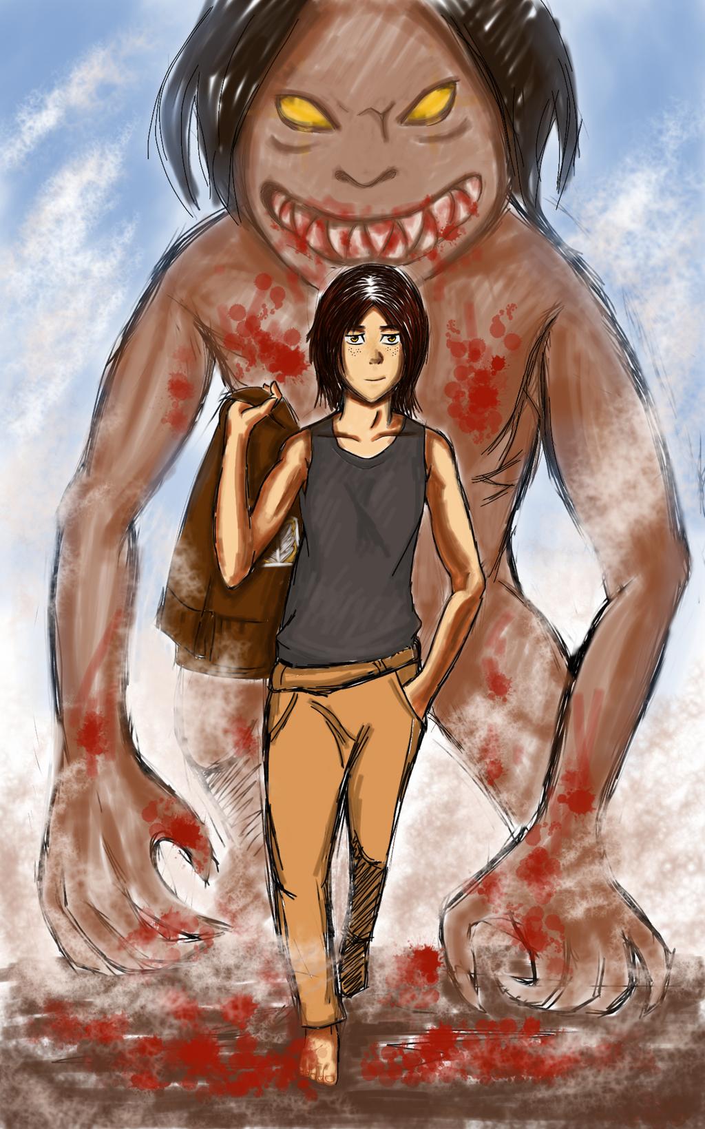 Ymir in Human and Titan form by LianTagataro on DeviantArt