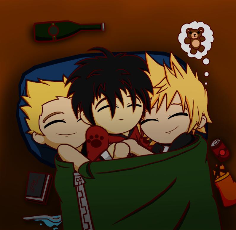 ::Sleepover:: Shounen-ai by Kingdom-Hearts-Yaoi