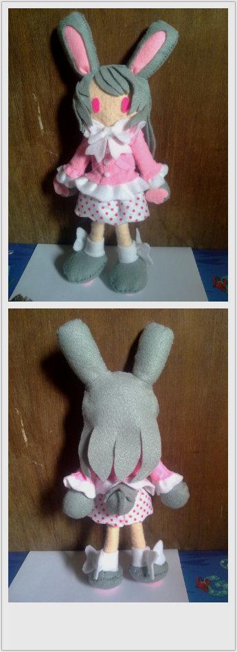 Felt plushie doll bunny girl for sale by rieshirushi