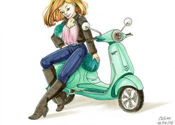 Vespa Girl by Ccachou