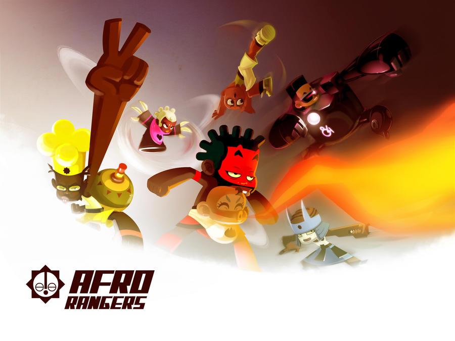 Afro Rangers team by ntamak