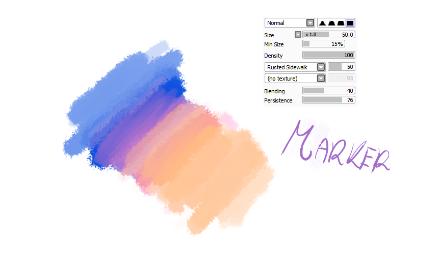 Paint Tool Sai Watercolour Brush Settings
