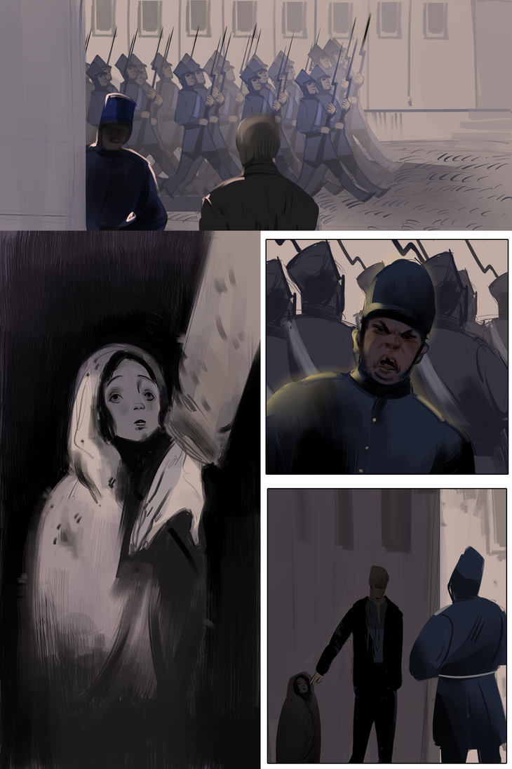 Additional page from unfinished graphic novel  by Miker-B