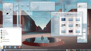 Linux Mint 13 KDE - Blue Sora