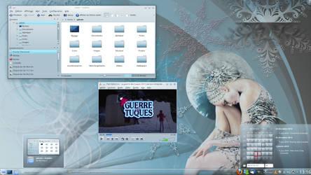 My Desktop for Winter by LiquidSky64