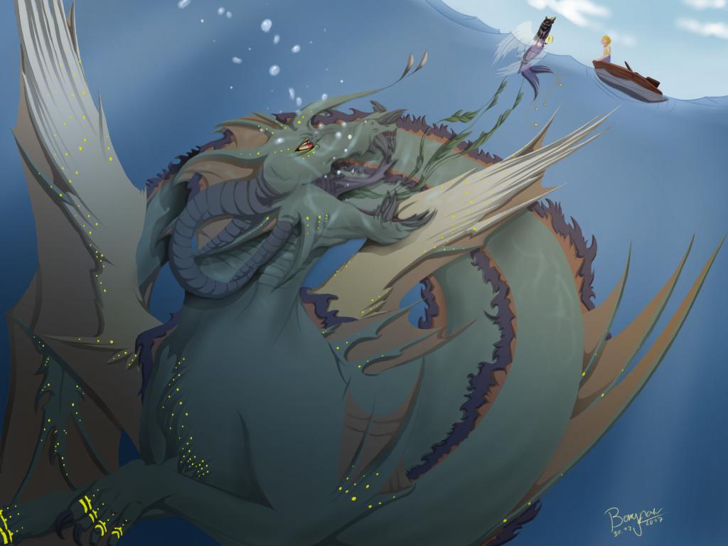 The Deep Sea by RedDragonberry