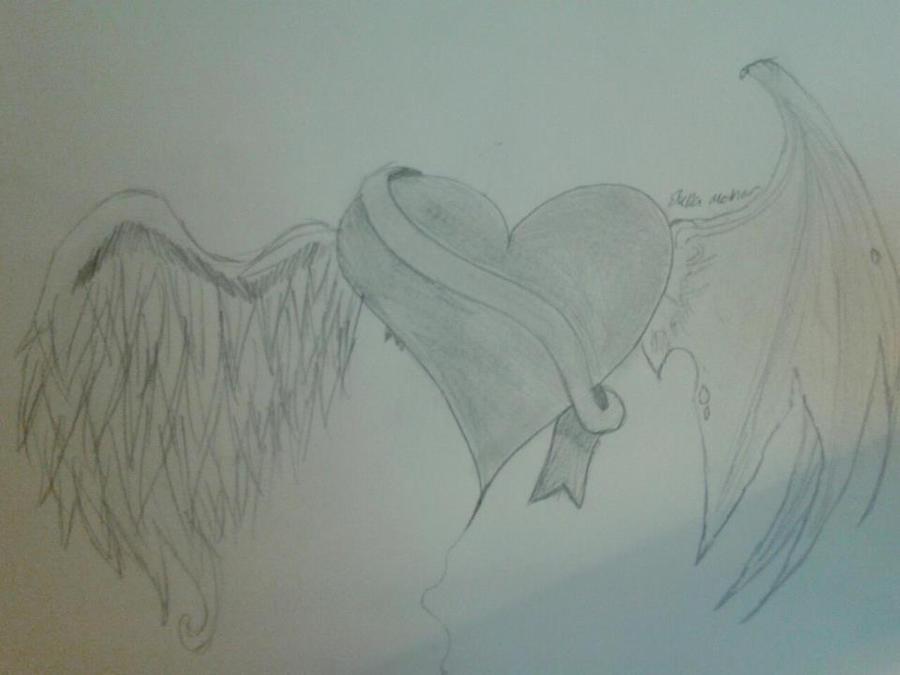 Winged heart tattoo design by sammy3314 on deviantart