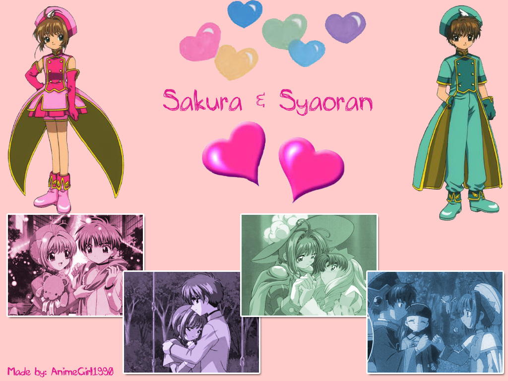 Sakura and Syaoran Wallpaper by AnimeGirl1990