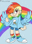 Humanized Rainbow Dash by Mirabuncupcakes15
