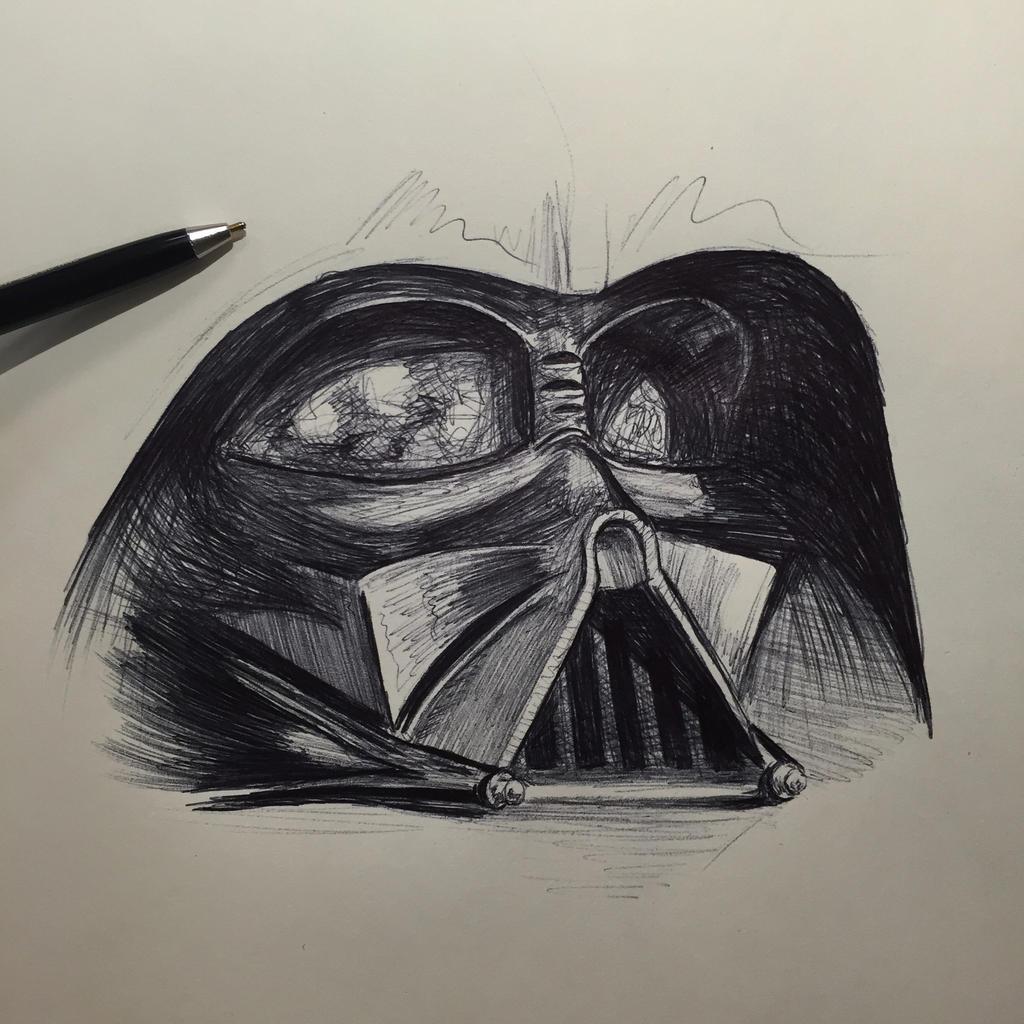Darth Vader sketch by Kanenaga on DeviantArt