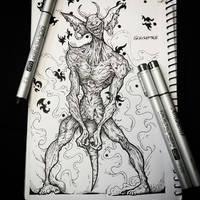 The blind demon by avramtg10