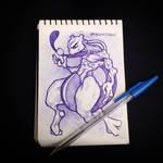 ballpoint pen Mewtwo