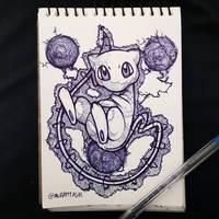 ballpoint pen Mew by avramtg10