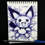 ballpoint pen Pichu fan art
